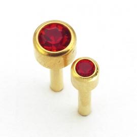 Guľaté s červeným kameňom
