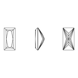 Zirconia obdĺžnik biela