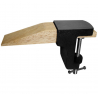 Drevený nos - skoba a kovová svorka