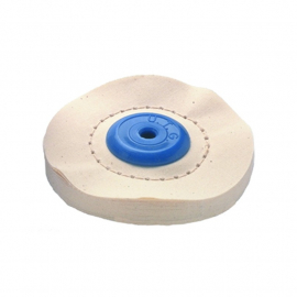 Leštiaci kotúč UTG platený s modrým stredom mäkký 100x10 mm